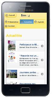 La Communauté de Communes ouvre son site mobile