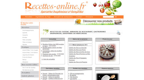 Recettes online : recettes de cuisine