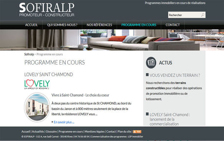 Sofiralp, promoteur et constructeur immobilier