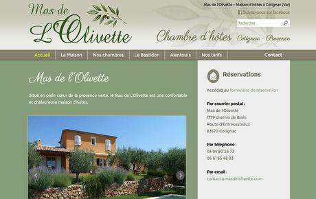 Maison d'hôtes en Provence : Mas de l'Olivette